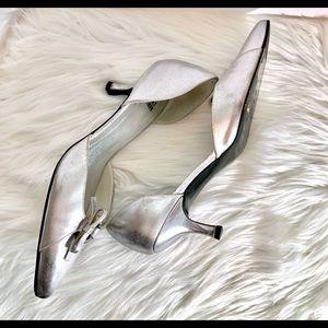 Vintage Stuart Weitzman Silver Heels Sz. 7